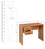 Matrix Study Table with Two Drawers in Natural Finish by Zuari