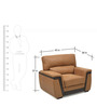 Maxwell One Seater Sofa in Brown Colour by @home