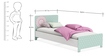McLailah Single-Size Bed in Pearl White Finish by Mollycoddle
