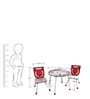 McBilly Activity Table-Chair Set in White & Red Finish by Mollycoddle