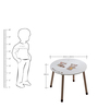 McBob Round Activity Table in Chocolate & Biege Finish by Mollycoddle