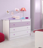 McLola Four Drawer Chest in White & Purple Finish by Mollycoddle