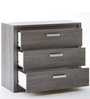 McTyler Chest of Three Drawers with Shelf in Prata Oak Finish by Mollycoddle