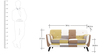 Medellin Two Seater Sofa in Yellow Multi Colour by CasaCraft