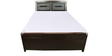 Metal Queen Hydraulic Bed with Storage in Brown Colour by Diamond Interiors