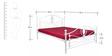Metallic Double Bed in White Colour by FurnitureKraft