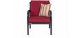 Metallic Sofa Set (3+1+1) with Maroon Mattress by FurnitureKraft