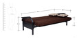 Metallic Three Seater Sofa cum Bed with Brown Mattress by FurnitureKraft