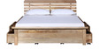 Illinois Queen Bed with storage in Natural Mango Wood Finish by Woodsworth