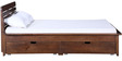 Illinois Queen Bed with Storage in Provincial Teak Finish by Woodsworth