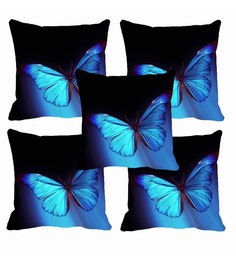 Me Sleep Butterfly Digitally Printed Cushion Cover Set Of 5