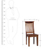 Hume Back Chair in Provincial Teak Finish by Amberville