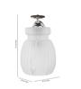 Medelln Wall Light in White by CasaCraft