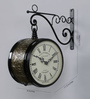 Medieval India Black & Antique Gold Iron 9 x 5.4 x 12.5 Inch Victoria Station Stunning Wall Clock