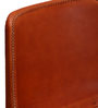 Medina Orange Color Leather Accent Chair by Bohemiana