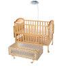 Mee Mee Baby Wooden Cot with Swing & Mosquito Net
