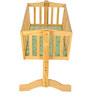 Mee Mee Wooden Cradle with Mosquito Net in Green