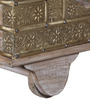 Reggie Trunk in Distress Finish and Metal Finish by Bohemiana