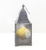 Madhurya Black Metal & Glass Lantern
