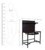 Metallic Study Desk in Black Colour by FurnitureKraft