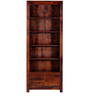 Freemont Book Shelf with Two Drawers in Honey Oak Finish by Woodsworth