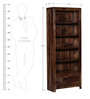 Freemont Book Shelf with Two Drawers in Provincial Teak Finish by Woodsworth
