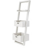 Toledo Ladder Book Shelf in White Color by Woodsworth