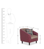 Mexico One Seater Sofa in Maroon Colour by Urban Living