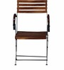 Mexico Folding Garden Set with Armrests in Provincial Teak Finish by Woodsworth