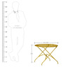 Lisheen Outdoor Iron Table in Yellow Color by Bohemiana
