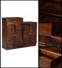 Avoca Shoe Rack in Provincial Teak Finish by Woodsworth