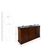 Corby Sideboard in Provincial Teak Finish by Amberville