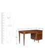 Arlington Study & Laptop Table in Provincial Teak Finish by Woodsworth