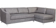 Mia Corner Sofa with Left Side Lounger in Grey Colour by Furny