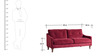 Mia Superb Three Seater Sofa in Maroon Colour by Furny