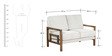 Cartagena Two Seater Sofa in Beige Colour by CasaCraft