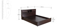 Milan Queen Bed with Storage (Headboard) in Walnut Colour by Royal Oak
