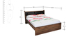 Milan Queen Bed in Walnut Finish by Royal Oak
