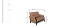 Milos Two Seater Sofa in Cappucino Finish by Godrej Interio