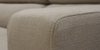 Mini Sofa with Right Side Lounger in Cream Colour by Furny
