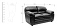 Mirage Two Seater Sofa in Black Colour by HomeTown