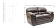 Mirage Two Seater Sofa in Brown Colour by HomeTown