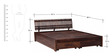 Amarillo Queen Bed with Storage in Provincial Teak Finish by Woodsworth