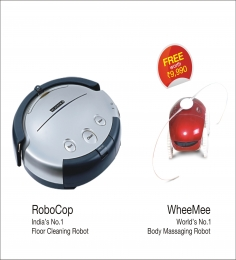 Milagrow Robocop Robotic Floor Cleaners With WheeMee Body Massaging Robot Free Worth Rs 9990/-