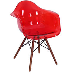 Mineko Accent Chair (Set Of 2) In Red Colour By Mintwud