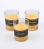 Micasa Yellow Citronella Flavor Aroma Candles - Set of 3