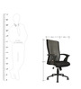 Mid Back Ergonomic Chair in Black Colour by Star India