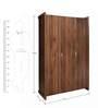 Milan Three Door Wardrobe in Walnut Finish by Royal Oak