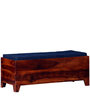 Milton Bench With Storage in Honey Oak Finish by Woodsworth