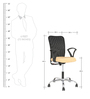 Minio Low Back Office Chair in Black & Beige Colour by The Furniture Store